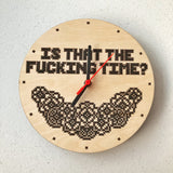 Is That The Time? Cross stitched clock kit