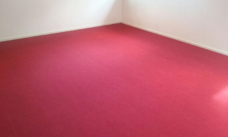 Red garage carpet