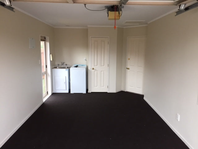garage and laundry carpeted