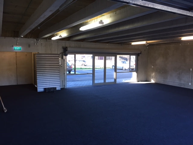 warehouse carpeted in garage carpet