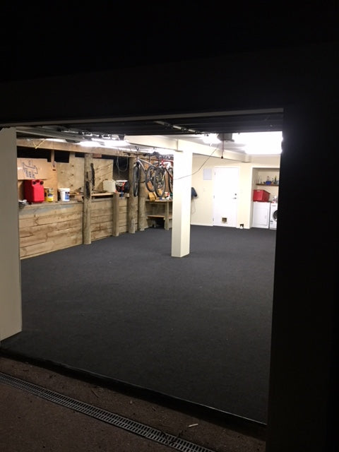 Garage Basement carpeted with garage carpet