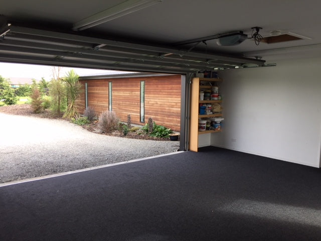 charcoal garage carpet laid in Christchurch NZ