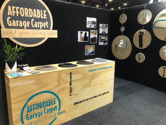 Affordable Garage Carpet Homeshow set up