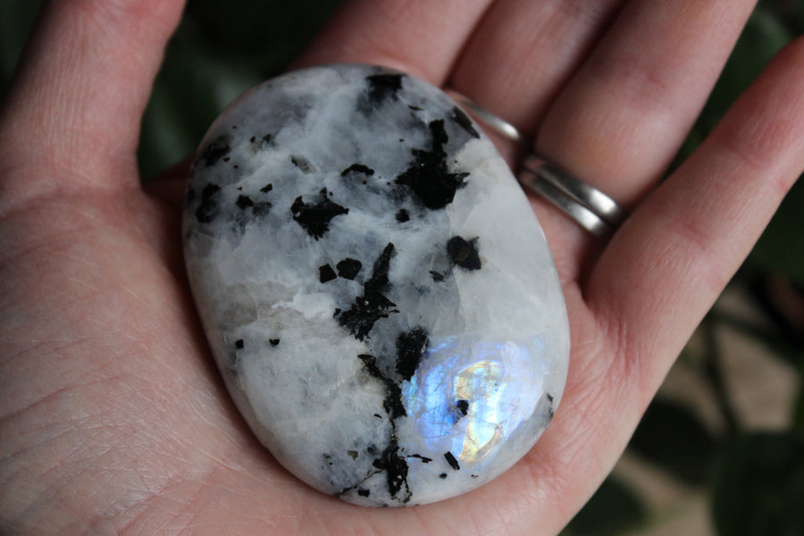 Rainbow moonstone pocket stone 5