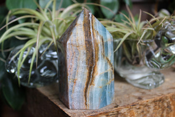 Blue onyx/blue calcite tower 15