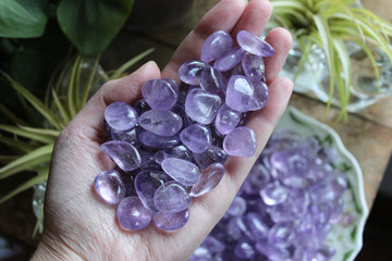 Amethyst tumbled stones (set of 3)