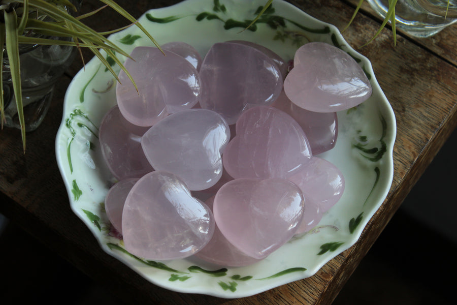 Large rose quartz heart