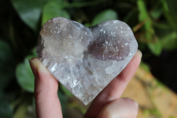 Amethyst flower heart 3