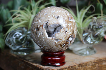 Chocolate calcite sphere 2