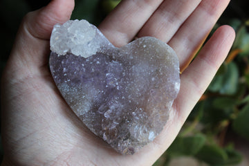 Amethyst flower heart 23