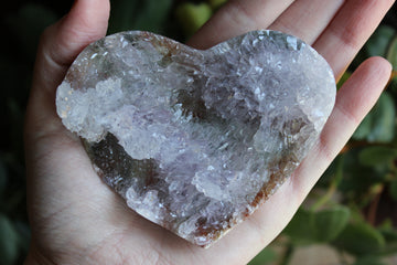 Amethyst flower heart 25