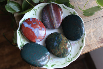 Bloodstone pocket stone, new