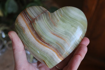 Green onyx heart 1, new
