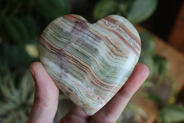 Green onyx heart 2, new