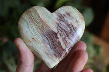 Green onyx heart 3, new