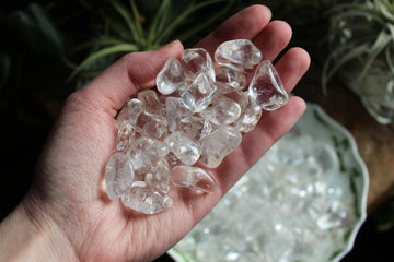 Clear quartz tumbled stones (small set of 3)