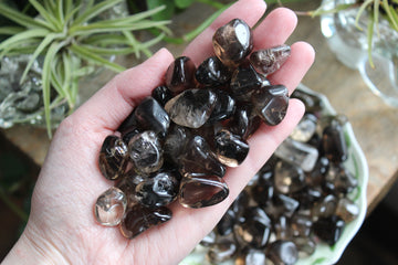 Smoky quartz tumbled stones (small/med set of 3)