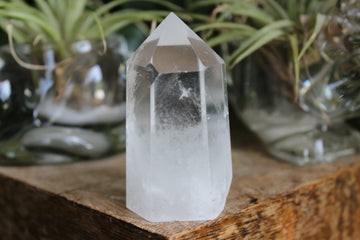 Clear quartz tower 3, new