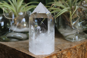 Clear quartz tower 5, new