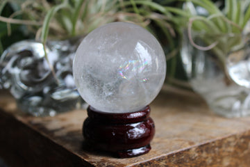 Clear quartz sphere 4B, new
