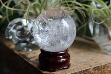 Clear quartz sphere 5B, new