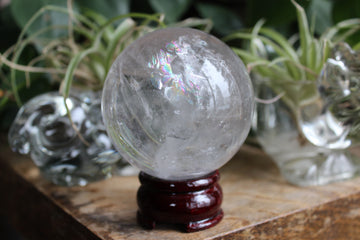 Clear quartz sphere 6B, new