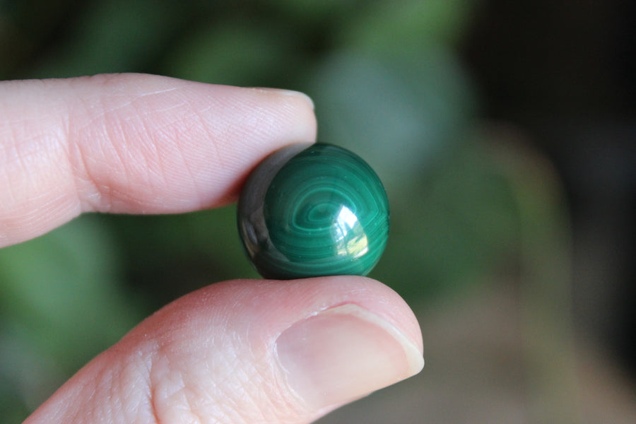 Tiny malachite sphere 5