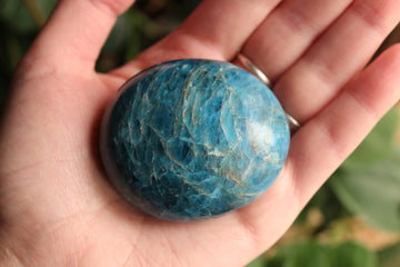 Blue apatite pocket stone 2