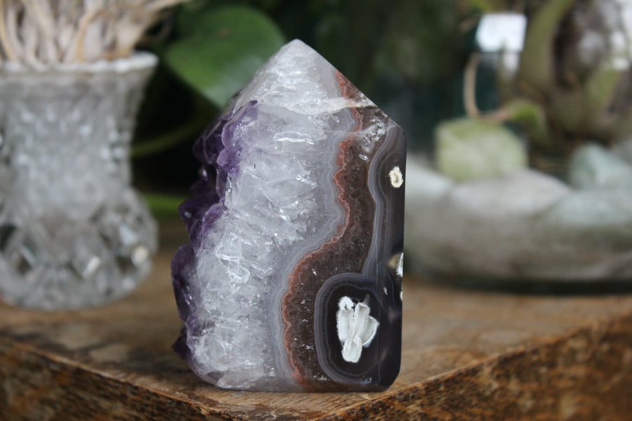 Natural/raw amethyst point 7