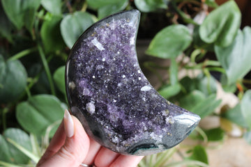 Amethyst cluster moon 14, new