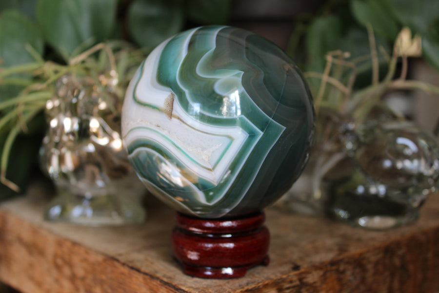 Agate sphere 12 sale