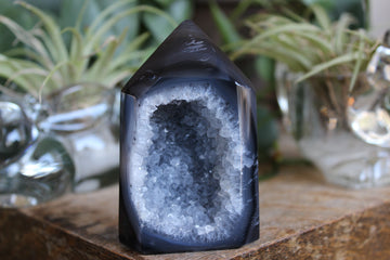 Agate geode tower 14, new