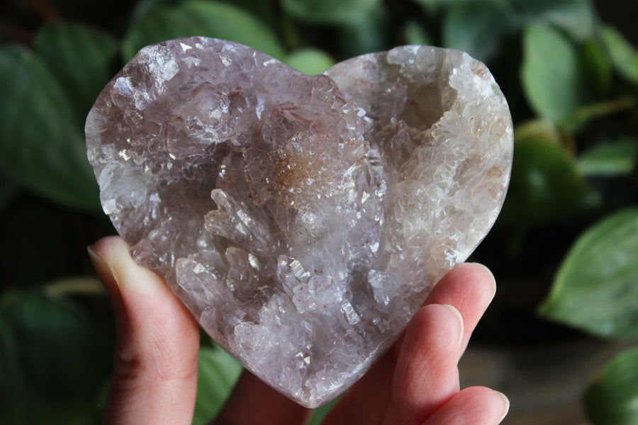 Amethyst flower heart 18