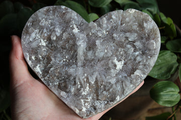 Amethyst flower heart 19