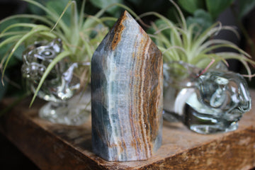 Blue onyx/blue calcite tower 5