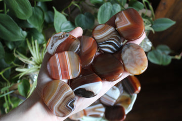 Carnelian pocket stone/worry stone