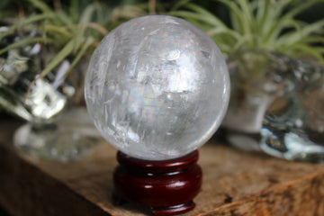 Rainbow calcite sphere 3, new