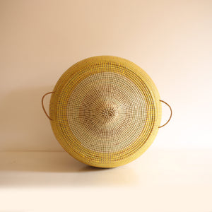 African Basket Yellow & Cream EGG (Large)