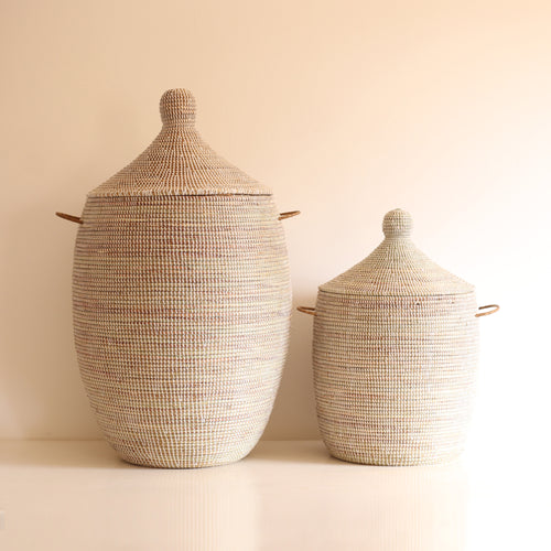 African Basket White EGG DUO (L+S)