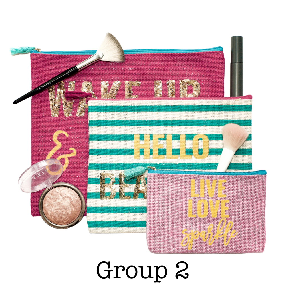 Cosmetic Bag Set | 3 Pieces