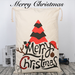 "Extra Large Cotton Canvas Drawstring Santa Sack | 28"" x 20"" - Threaded Pear"