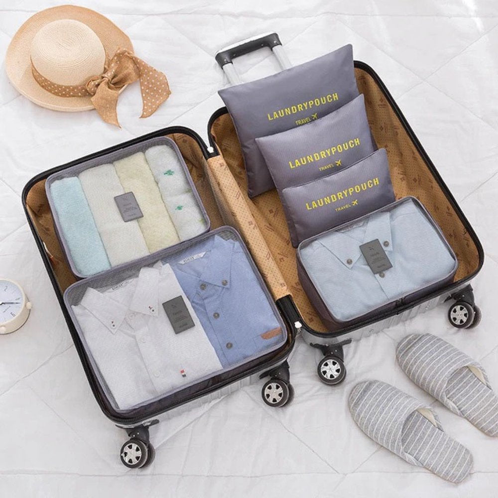 6 Piece Travel Organizer - Threaded Pear