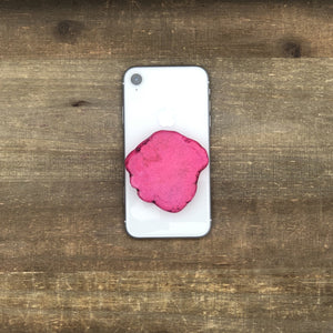 Natural Stone POP Phone Grips - Threaded Pear