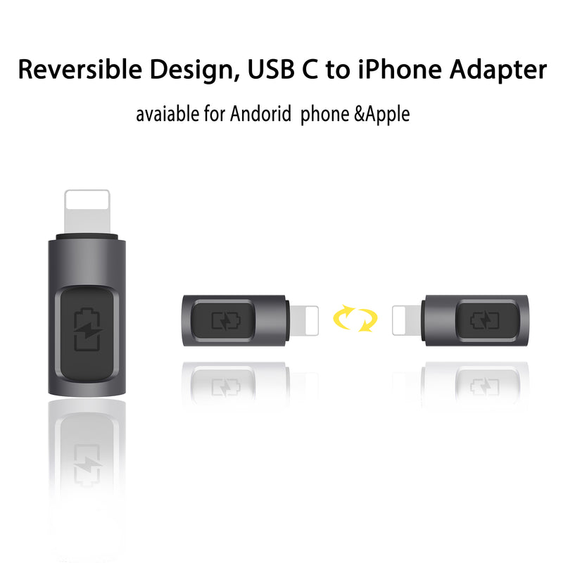 Stouchi USB C to Lightning Adapter [5V@2A]