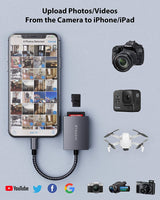 Lightning SD / TF Camera Memory Card Reader