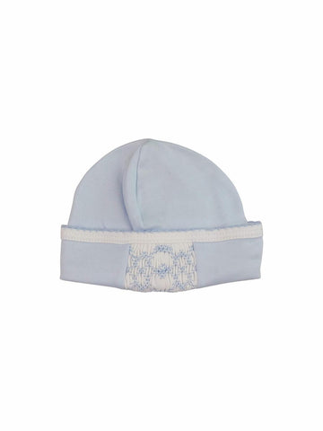 Baby Threads Blue Hand Smocked Hat