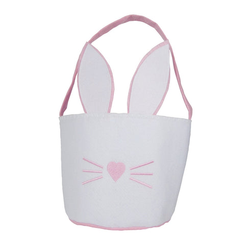 Groovy Holidays White and Pink Easter Basket