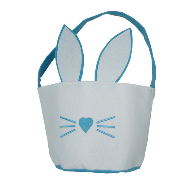 Groovy Holidays White and Blue Easter Basket