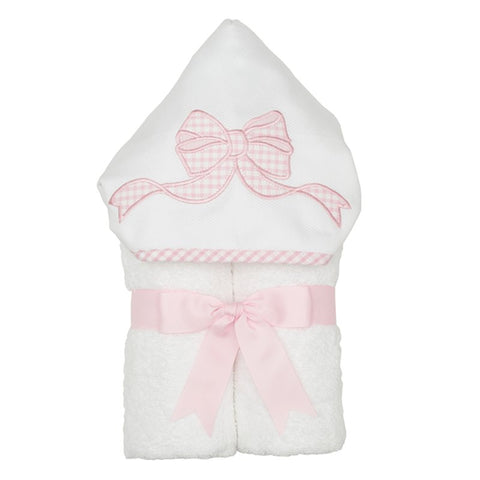 3 Martha's Everykid Towel, Applique Pink Bow