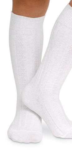 1625 Jefferies socks knee high cable knit